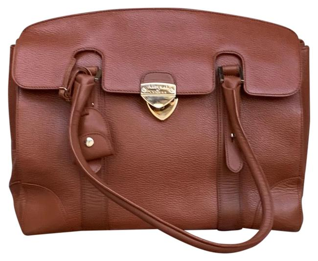 Item - Brief Cognac Leather Shoulder Bag