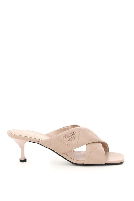 Item - Beige Quilted Nappa Mules/Slides Size EU 36 (Approx. US 6) Regular (M, B)