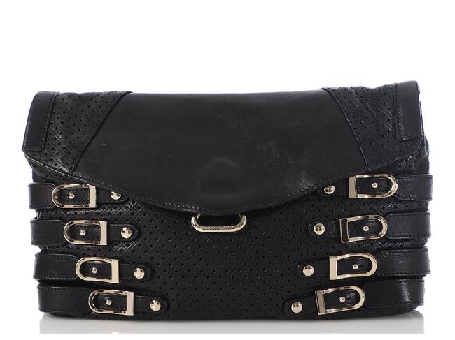 Item - Bree Convertible Perforated Black Leather Clutch