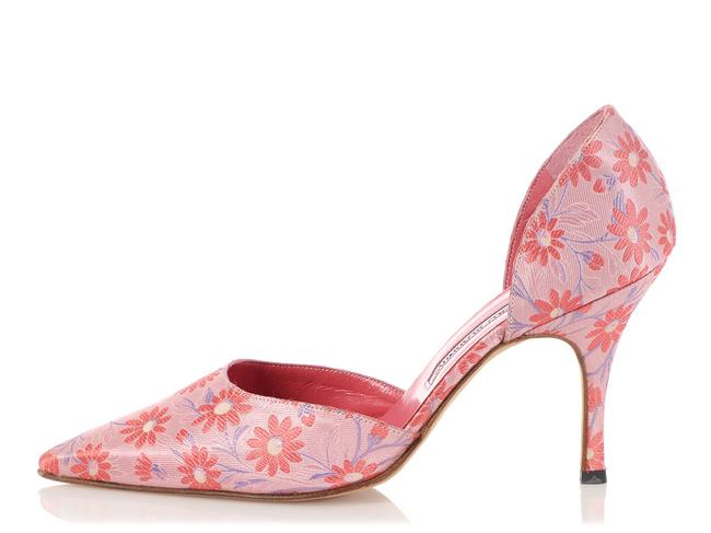Item - Pink Brocade Flower Pumps Size EU 38 (Approx. US 8) Regular (M, B)