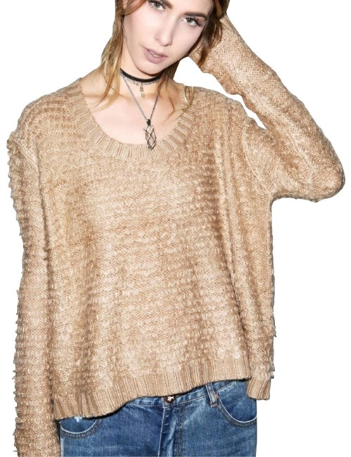Item - Turntable Fluffy Knit Camel Tan Sweater