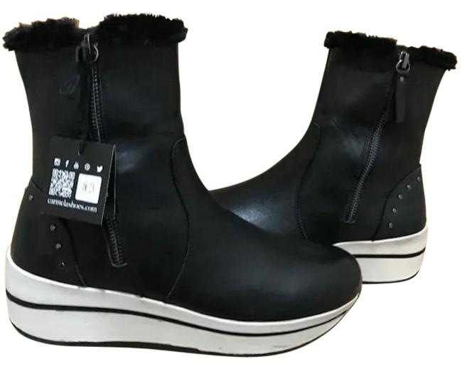 Item - Black Shearling Above Ankle Boots/Booties Size EU 38 (Approx. US 8) Regular (M, B)