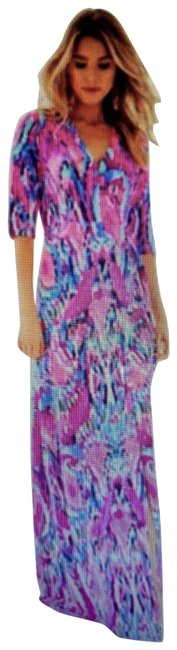 Item - Multicolor Wrap Long Casual Maxi Dress Size 8 (M)