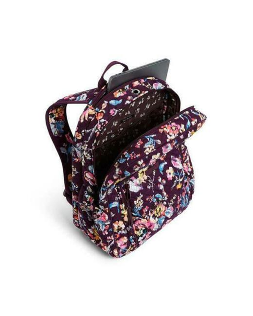 Vera Bradley Iconic Campus Floral Purple Cotton Backpack Vera Bradley Iconic Campus Floral Purple Cotton Backpack Image 2