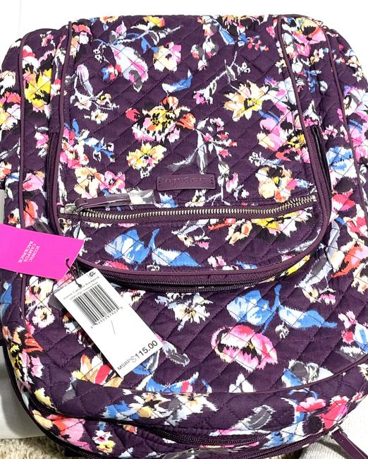Vera Bradley Iconic Campus Floral Purple Cotton Backpack Vera Bradley Iconic Campus Floral Purple Cotton Backpack Image 11