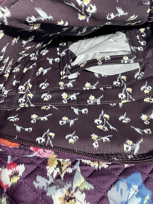 Vera Bradley Iconic Campus Floral Purple Cotton Backpack Vera Bradley Iconic Campus Floral Purple Cotton Backpack Image 12