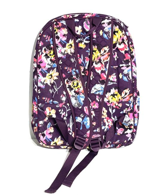 Vera Bradley Iconic Campus Floral Purple Cotton Backpack Vera Bradley Iconic Campus Floral Purple Cotton Backpack Image 4