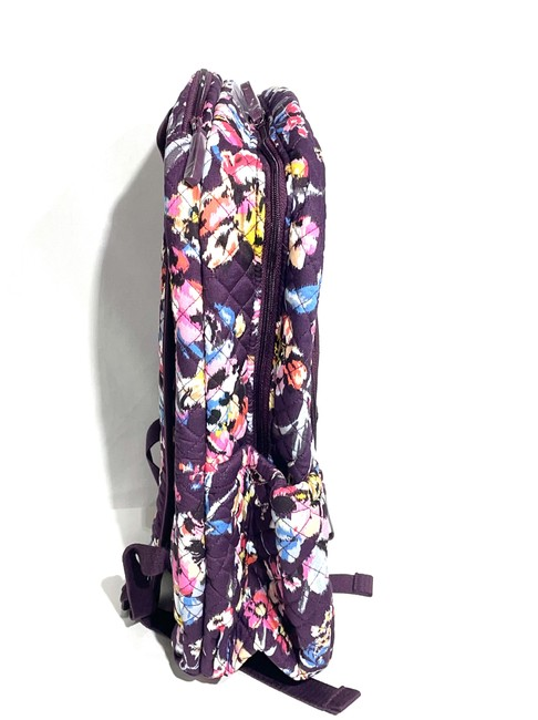 Vera Bradley Iconic Campus Floral Purple Cotton Backpack Vera Bradley Iconic Campus Floral Purple Cotton Backpack Image 5
