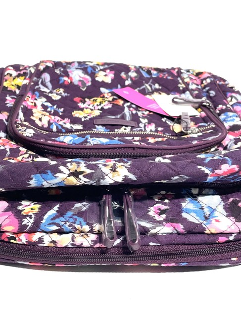 Vera Bradley Iconic Campus Floral Purple Cotton Backpack Vera Bradley Iconic Campus Floral Purple Cotton Backpack Image 6