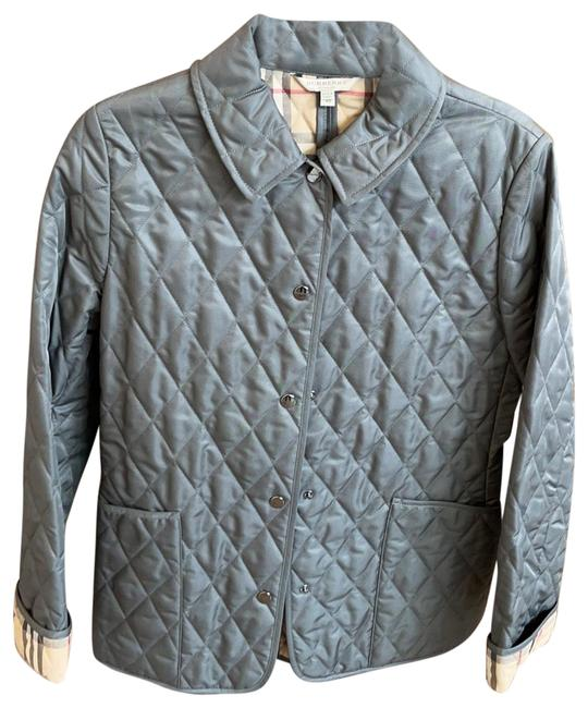 Item - Silver Quilted Jacket Size 0 (XS)