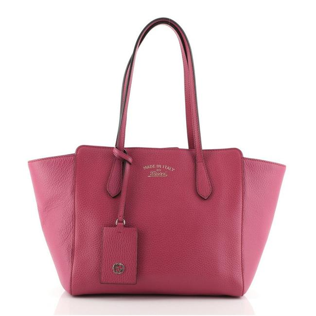 Item - Bag Swing Small Pink Leather Tote