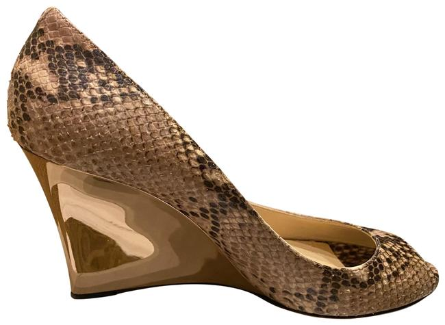 Item - Snakeskin and Gold Wedges Size EU 40 (Approx. US 10) Regular (M, B)