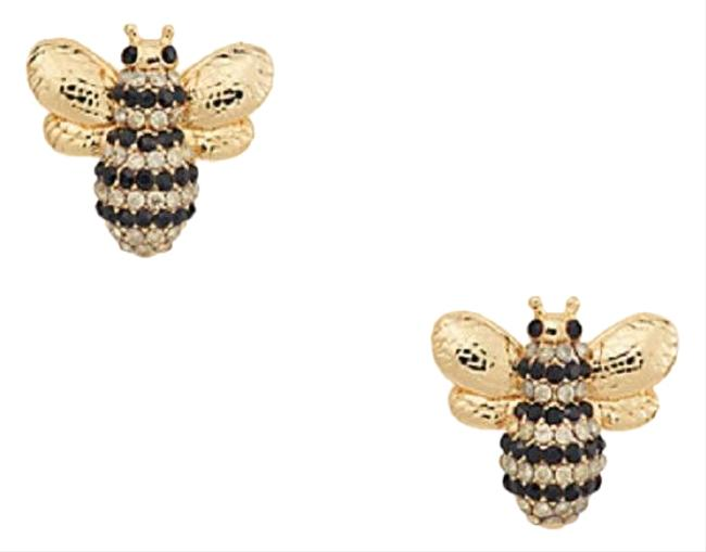 Item - Black Gold Multi *new* Picnic Perfect Pave Bee Studs Earrings