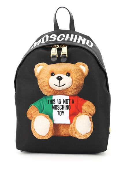 Item - With Italian Teddy Bear Print Black Backpack