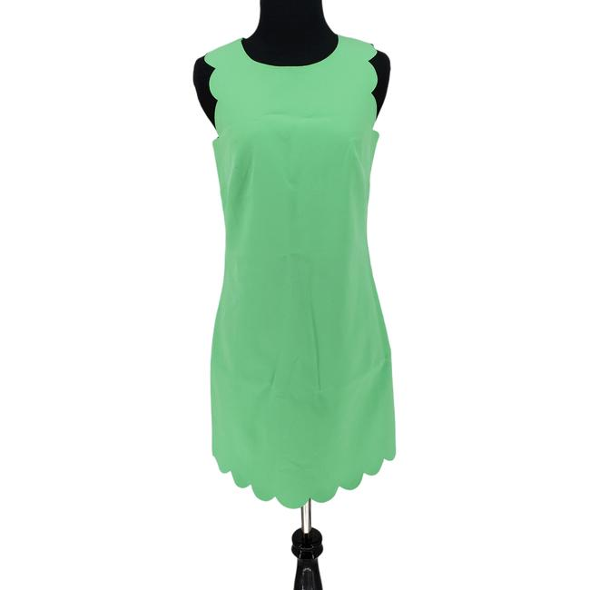 Item - Green Factory Scalloped Shift Sleeveless B0313 Short Night Out Dress Size 0 (XS)