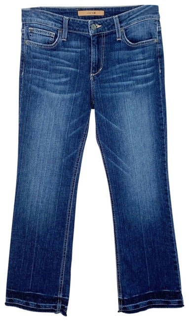 Item - Blue Dark Rinse Wash Olivia Mid Released Hem Capri/Cropped Jeans Size 29 (6, M)