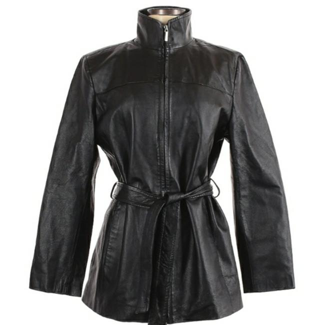 Item - Black Zip Moto Jacket Size 12 (L)