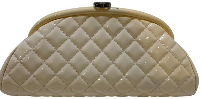 Item - Timeless Quilted Cream Patent Leather Clutch