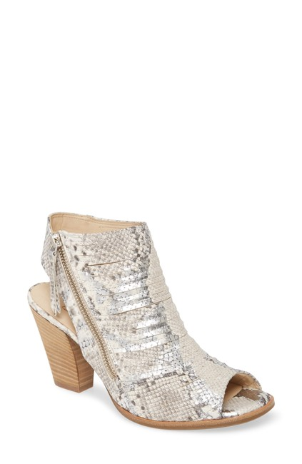 Item - Silver Snake Cayanne Peep Toe Sandal Print (Ts7) Boots/Booties Size US 8 Regular (M, B)
