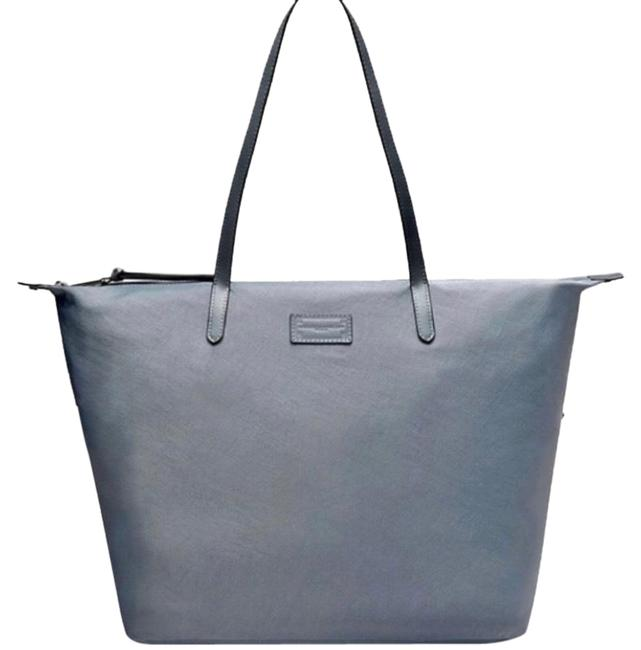 Item - Large Zip Top Gray Canvas Tote