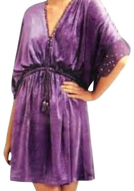 Item - Purple Berry Noir Velvet Dolman Short Night Out Dress Size 12 (L)