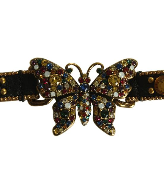 Item - Multi-colorxblack 580868 Butterfly Crystal Embellished Choker (195335) Necklace
