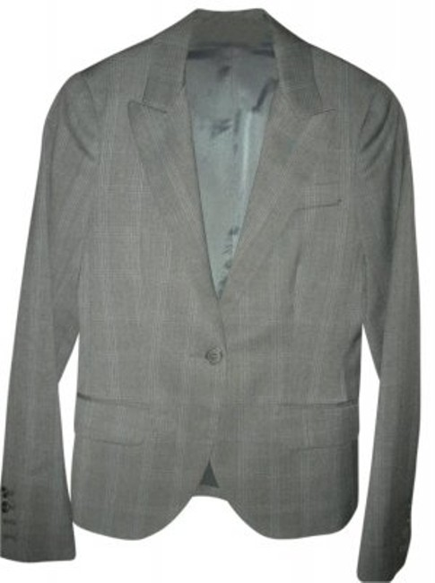 Theory Grey Plaid Blazer
