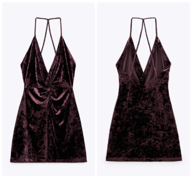 Item - Maroon 7969/253 Short Night Out Dress Size 8 (M)