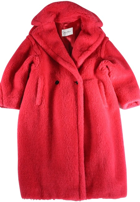 """Item - Sold Out Raspberry Pink Teddy Bear """"Icon"""" Coat Size 8 (M)"""