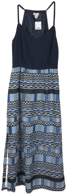 Item - Blue Geoprint Skirt Maxi Skirt Long Night Out Dress Size Petite 2 (XS)