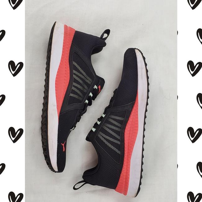 Item - Black & Coral Pink Pacer Net Cage Sneakers Size US 6 Regular (M, B)