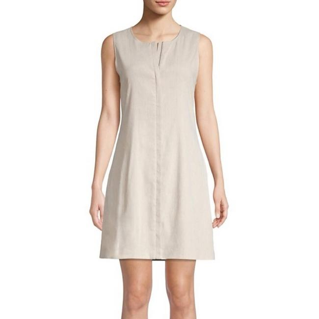 Item - Cream Easy Crew Shift In Flax White Short Casual Dress Size 2 (XS)