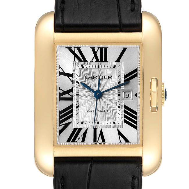 Item - Silver Box Tank Anglaise Yellow Gold Ladies W5310030 Papers Watch