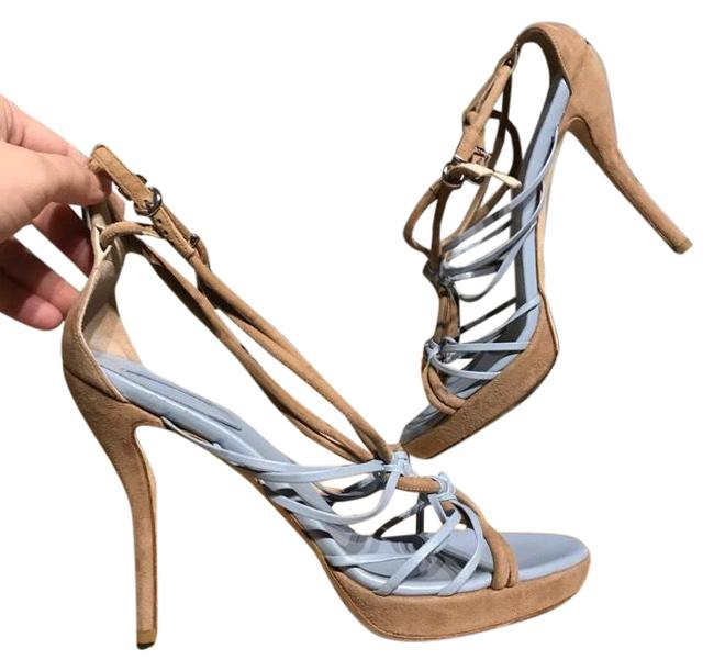 Item - Beige Nwot Crisscross Strappy Platforms Neutral Nude Sandals Size EU 40 (Approx. US 10) Regular (M, B)