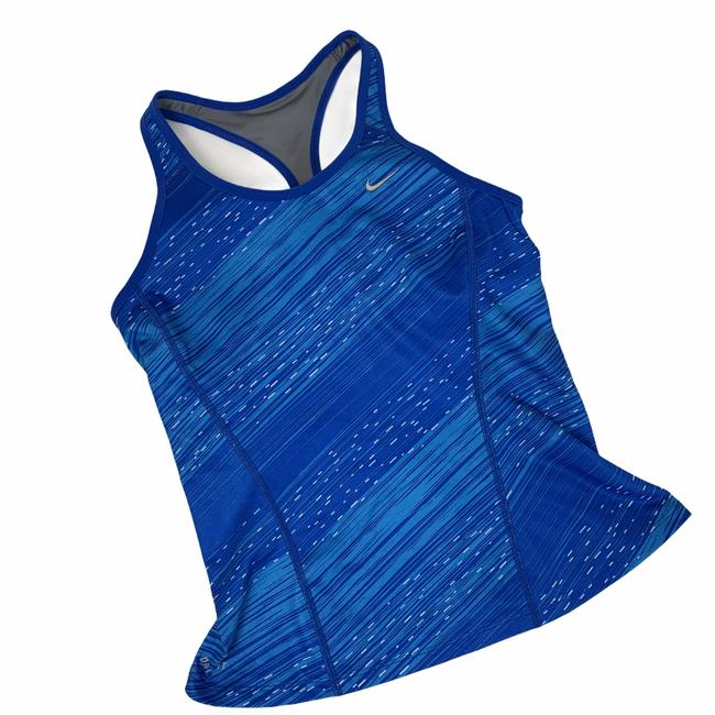 Item - Blue Dri Fit Running Workout Tank Built In Bra S Activewear Top Size 4 (S)
