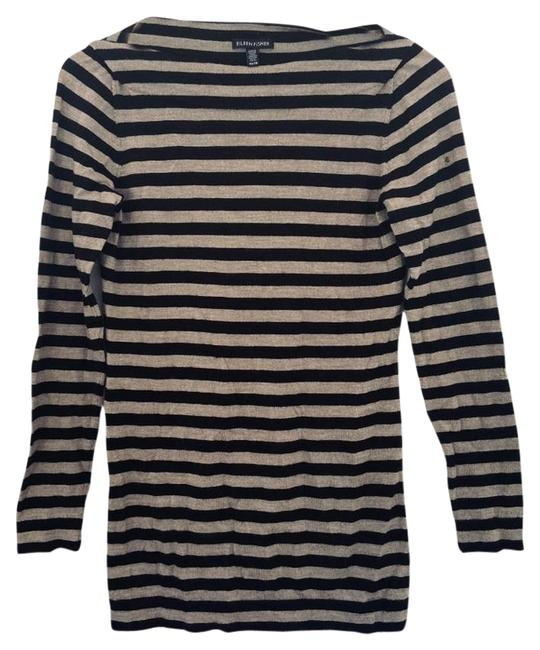Item - Black & Cream XS Wool Stripe Sweater Dress Tunic Size 2 (XS)