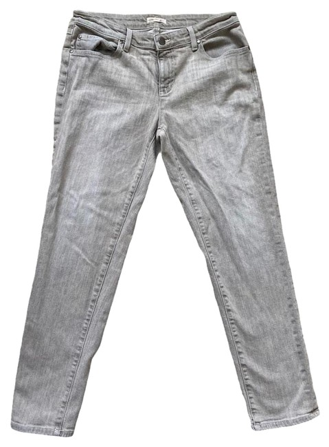 Item - Gray Medium Wash Denim Mid Rise 8 Straight Leg Jeans Size 32 (8, M)
