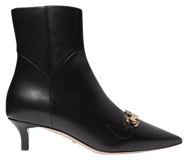 Item - Black Zumi Gg Logo Leather Ankle Boots/Booties Size EU 36.5 (Approx. US 6.5) Regular (M, B)