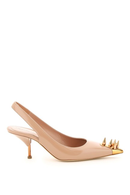 Item - Pink Leather Slingback with Studs Pumps Size EU 38 (Approx. US 8) Regular (M, B)