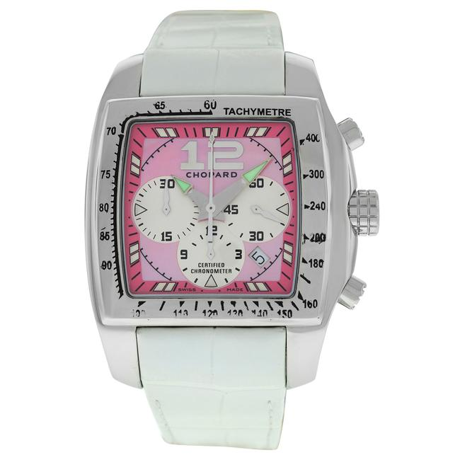 Item - Silver Two O Ten Tycoon 8961 Ladies Stainless Steel Mop 46mm Automat Watch