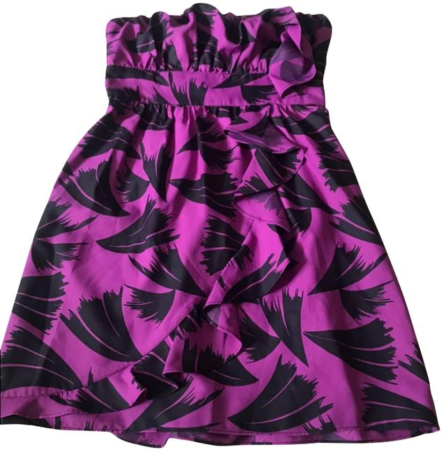 Item - Purple Strapless Ruffle Wrap-looking Short Casual Dress Size 4 (S)
