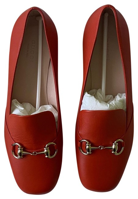Item - Orange Horsebit Loafer Flats Size EU 37.5 (Approx. US 7.5) Regular (M, B)