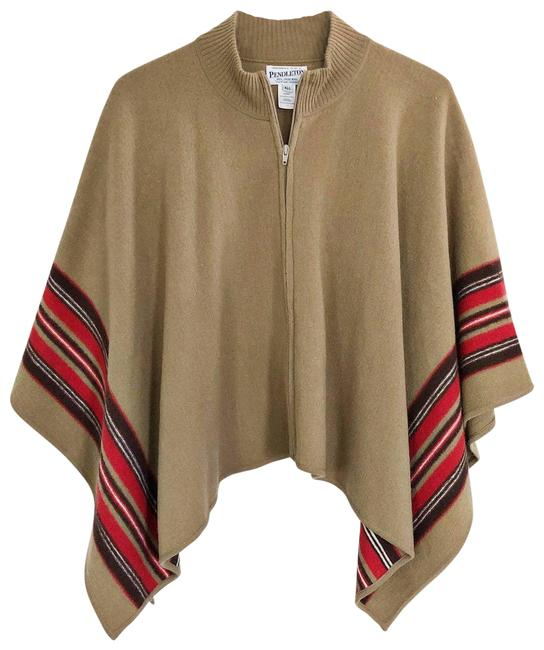 Item - Cream Wool Poncho/Cape Size OS (one size)