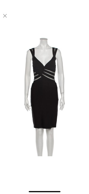 Item - Black Icon Mid-length Cocktail Dress Size 4 (S)
