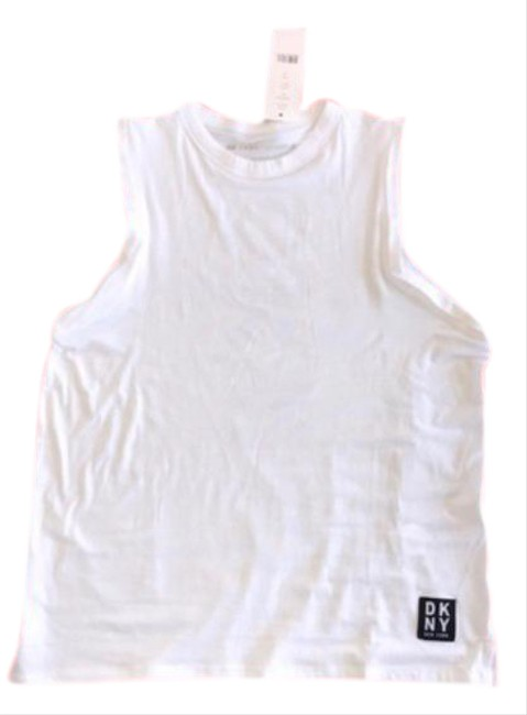 Item - White and Black Sport Women's Athletic Muscle M Activewear Top Size 10 (M)