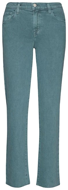 Item - Green Medium Wash Adele Dakota Distress Straight Leg Jeans Size 0 (XS, 25)