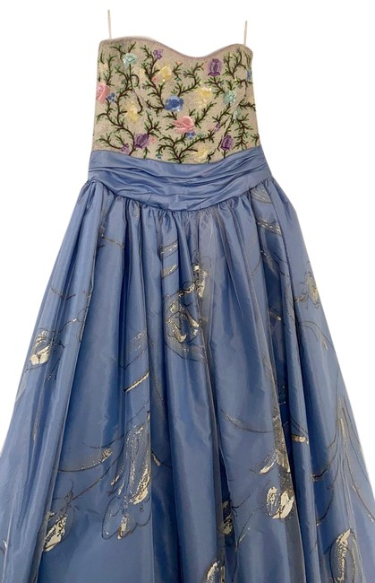 Escada Multi Color W Couture Fabulous Hand Painted Skirt Beaded Buster Strapless Long Formal Dress Size 8 (M) Escada Multi Color W Couture Fabulous Hand Painted Skirt Beaded Buster Strapless Long Formal Dress Size 8 (M) Image 1