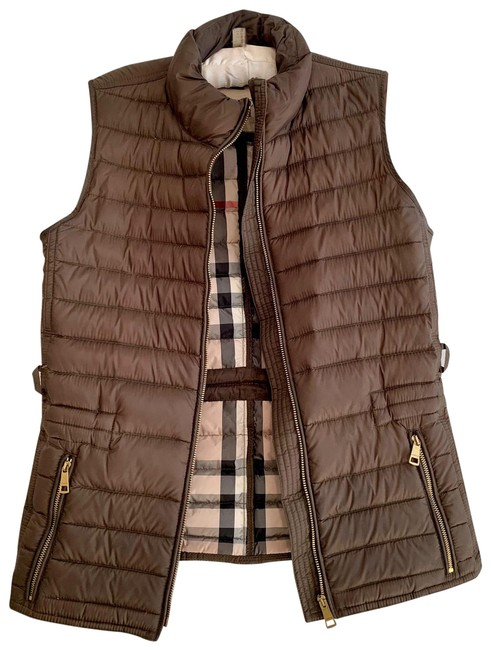 Item - Olive Brown Tonal Quilted Puffer Vest Size 4 (S)