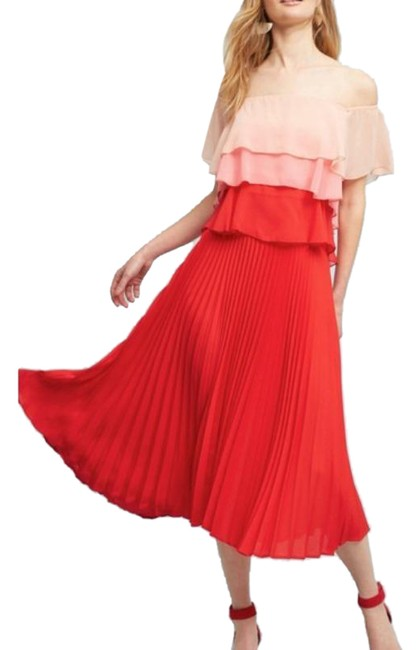 Item - Red Delfi Flowy Mid-length Casual Maxi Dress Size 2 (XS)