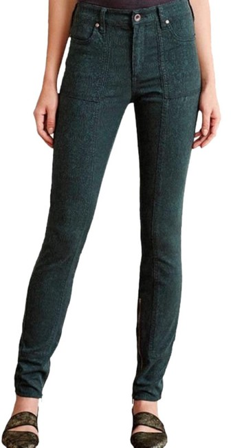 Item - Green Gold Pilcro and The Letterpress Jacquard Utility Skinny Jeans Size 29 (6, M)